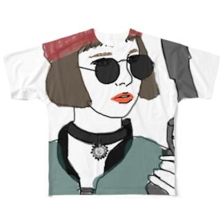 殺し屋少女 Full graphic T-shirts