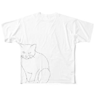 近所のノラさん Full graphic T-shirts