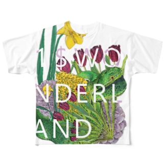 1$WONDERLAND 『Take heed of the snake in flowers』 フルグラフィックTシャツ
