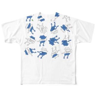 ずれるねこT Full graphic T-shirts