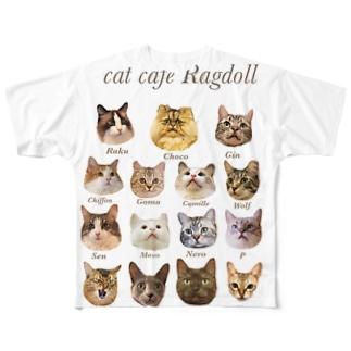 cat Ragdoll Full graphic T-shirts