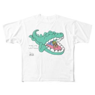 のんびりタイム フルグラフィックTシャツ