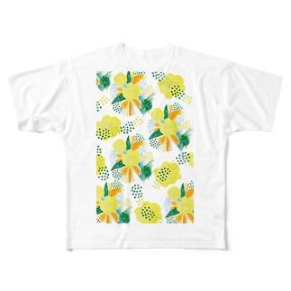 yellow_flower Full graphic T-shirts