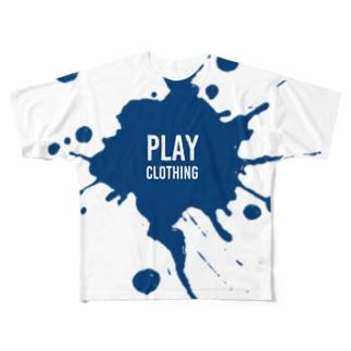 SPLASH LOGO  N ① Full graphic T-shirts