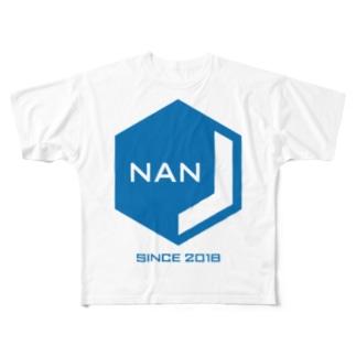 NANJCOIN公式ロゴ入り Full graphic T-shirts