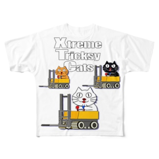 ネコ兄弟 tXTC_31 Full graphic T-shirts