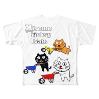ネコ兄弟 tXTC_32 Full graphic T-shirts