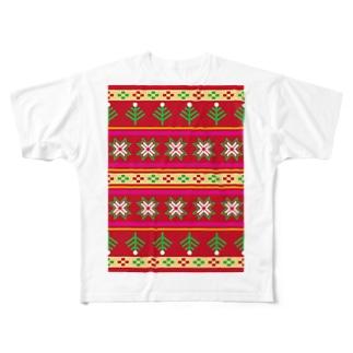 ノルディックレッド Full graphic T-shirts