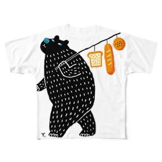 クマパン フルグラフィックTシャツ