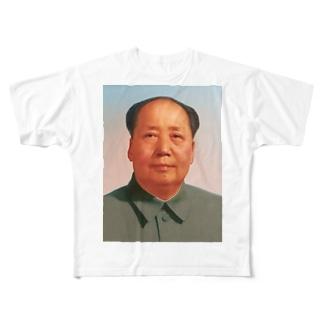 毛沢東 フルグラフィックTシャツ