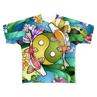 和柄 フルグラフィックTシャツ