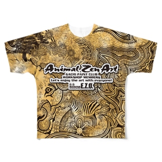 "ANIMAL ZEN ART ""E.ZO.Design"" Full graphic T-shirts"