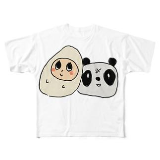 こめぱん Full graphic T-shirts