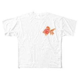金魚 フルグラフィックTシャツ