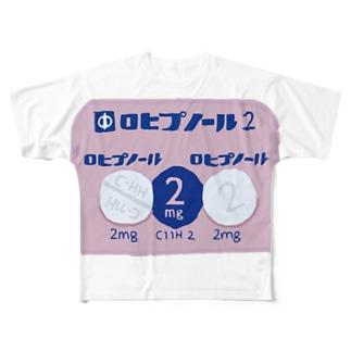 ロヒプノール Full graphic T-shirts