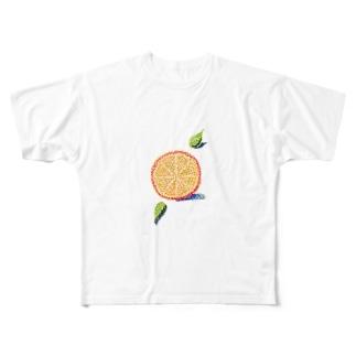 オレンジ色の恋 Full graphic T-shirts