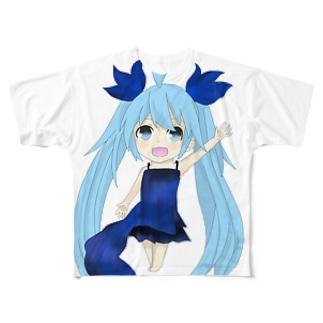 デフォルメ深海少女! Full graphic T-shirts