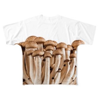 しめじ フルグラフィックTシャツ
