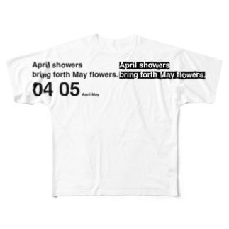 April, May Full graphic T-shirts