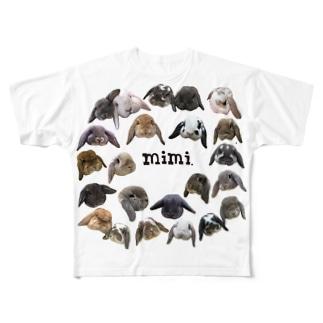 たれみみ主義 フルグラフィックTシャツ