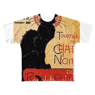 テオフィル・スタンラン 『 黒猫 』 フルグラフィックTシャツ