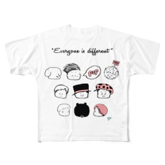 kaotakusan pink フルグラフィックTシャツ