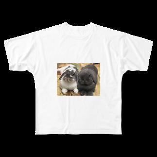うさかふぇmimiSHOPのサスケとゴマ フルグラフィックTシャツ