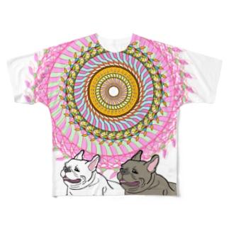 太陽とフレブル Full graphic T-shirts