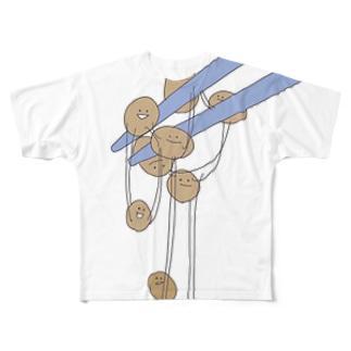 ねばねば!納豆ちゃんず Full graphic T-shirts