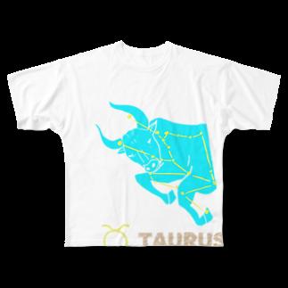 chicodeza by suzuriのおうし座グッズ フルグラフィックTシャツ