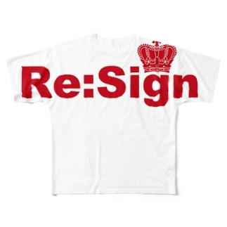Re:Sign クラウンTシャツ Full graphic T-shirts