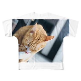 ネコモノ Full graphic T-shirts