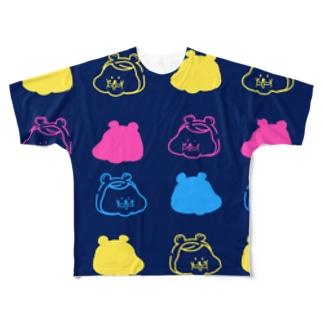 ハムオ 紺 Full graphic T-shirts