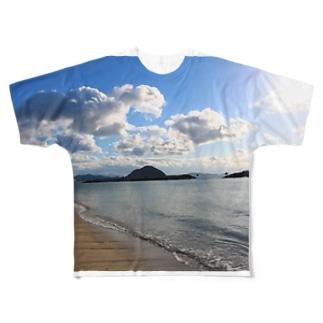 瀬戸内海 Full graphic T-shirts