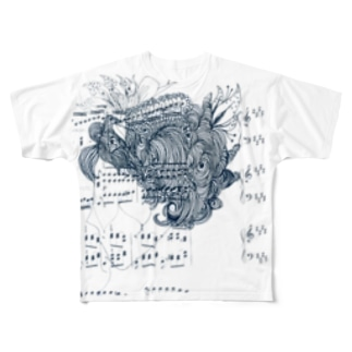 "Melody in the head ""Queen"" Full graphic T-shirts"