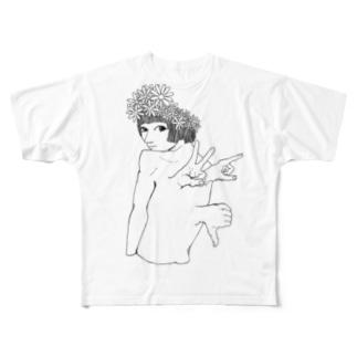 カンムリ フルグラフィックTシャツ