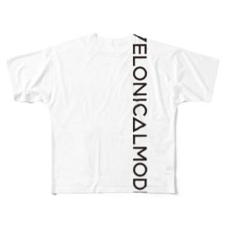 ロゴ(縦) フルグラフィックTシャツ