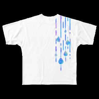 tukurunoの雨の日のお散歩 Full graphic T-shirts