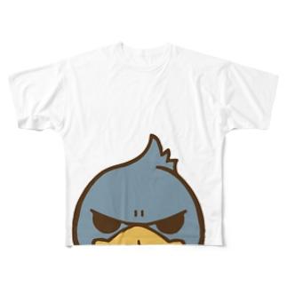 ハシビロコウガミテルダケ Full graphic T-shirts