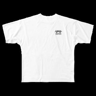 oreteki design shopのKAWARA SKATERS BL LS フルグラフィックTシャツ