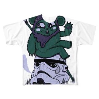 Little Soldier got a Big Head フルグラフィックTシャツ