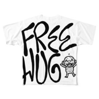 FREE HUG フルグラフィックTシャツ