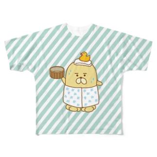 おじゃもんくんさわやか温泉 フルグラフィックTシャツ