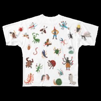 本濃研太の店の虫たち!いっぱい! Tシャツ! フルグラフィックTシャツ