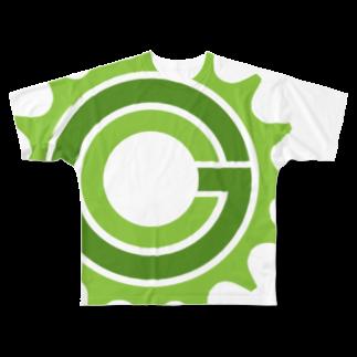 Green CogのGreen Cog Cog Logo フルグラフィックTシャツ