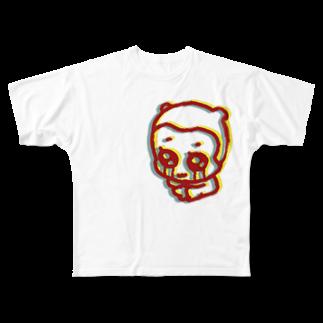 rucochanmanのcrying anonchan T-shirt Full graphic T-shirts