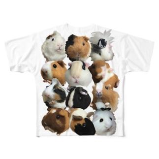 2頭身もる Full graphic T-shirts