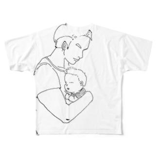 パパです Full graphic T-shirts