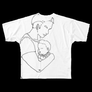 マグダラのヒカル@堕天使垢のパパです Full graphic T-shirts
