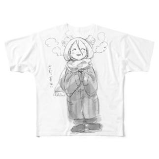 真冬に半袖ほい2 フルグラフィックTシャツ